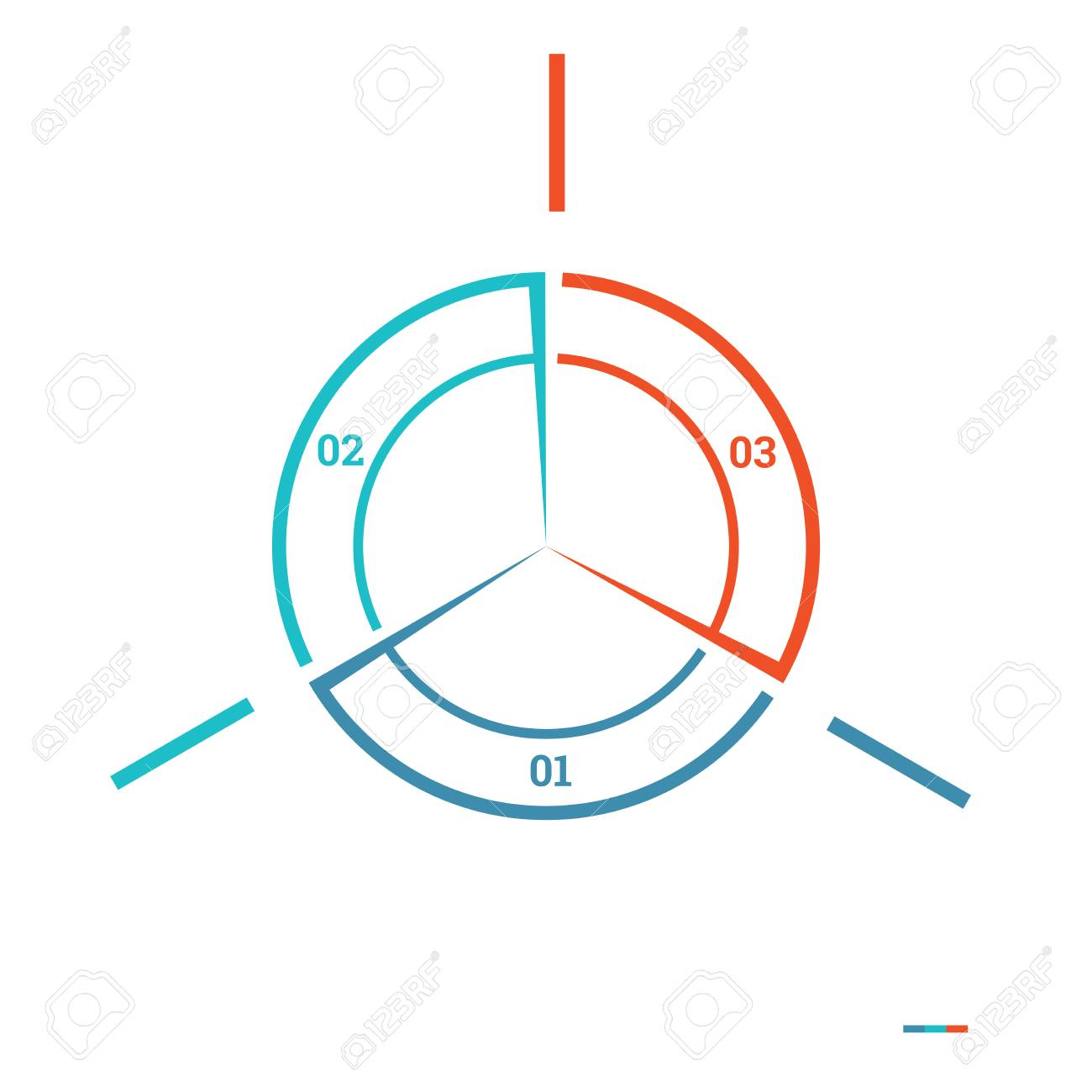 Chart Template   Infografik Pie Chart Template Bunten Kreis Von Linien Mit
