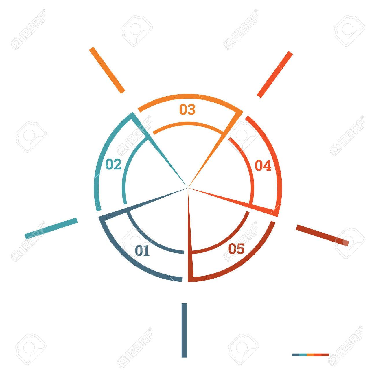 Infographic pie chart template colourful circle from lines with infographic pie chart template colourful circle from lines with text areas on 5 positions for workflow nvjuhfo Choice Image
