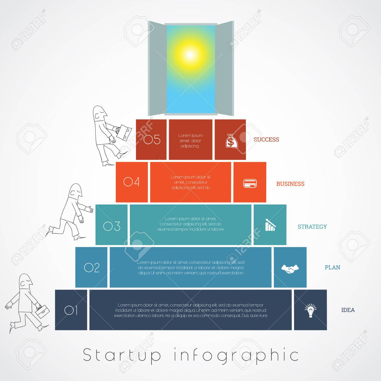 Sun Diagram Used In Business Wiring Schematics Infographics For Success Startup Businessman Steps From Earth