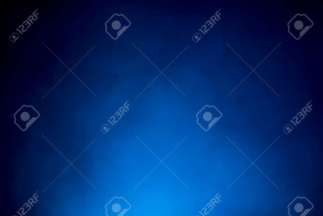 Blue bokeh mistical abstract background. Defocused light. Main color of year 2020. - 137131639
