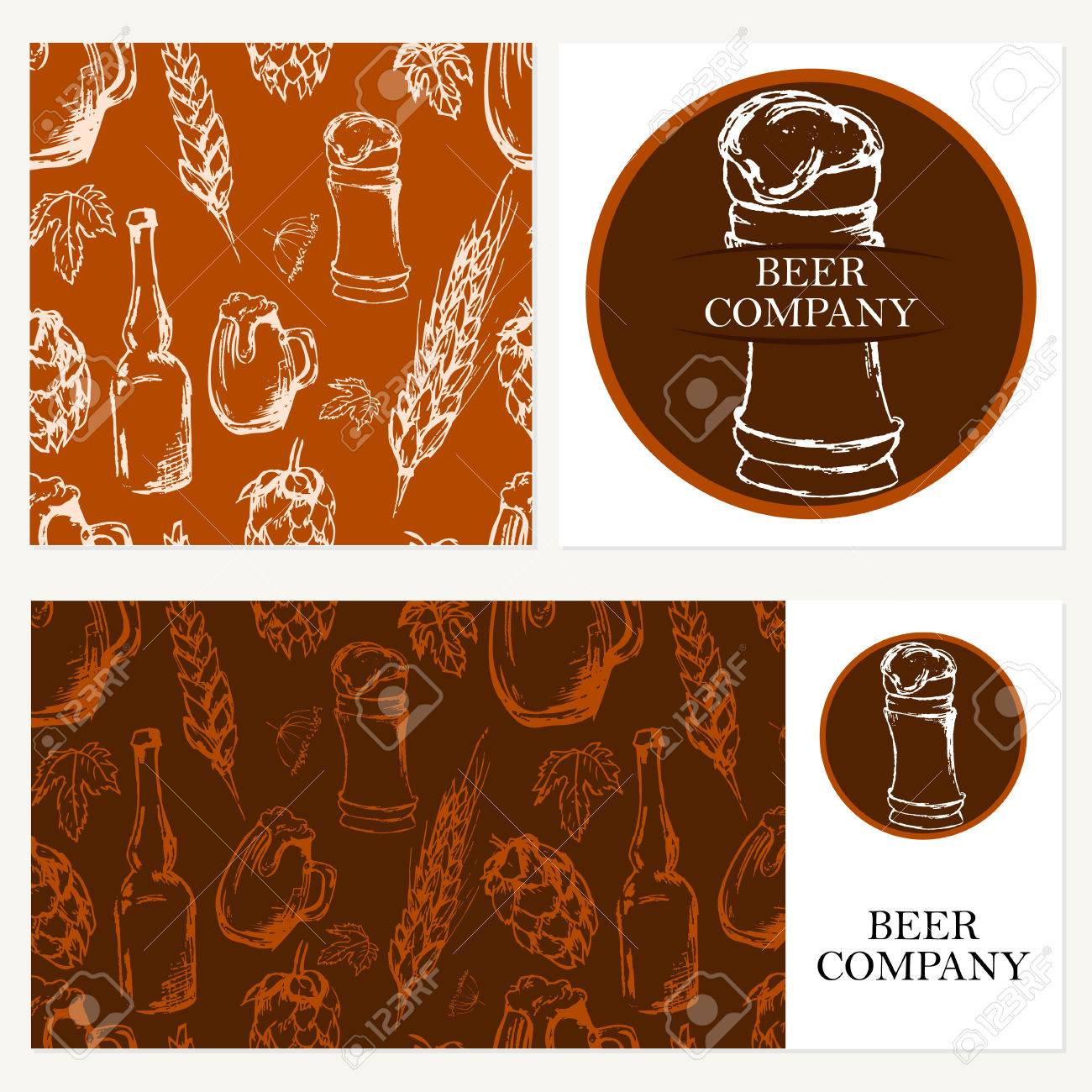 retro card envelope restaurant theme business cards collection vector