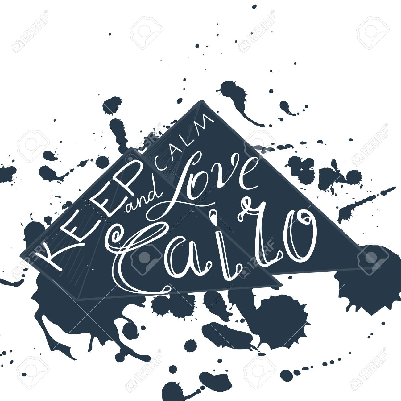 Vector Illustration With Phrase Keep Calm And Love Cairo Poster