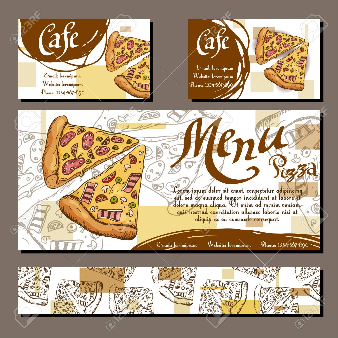 cafe menu with hand drawn design fast food restaurant menu template