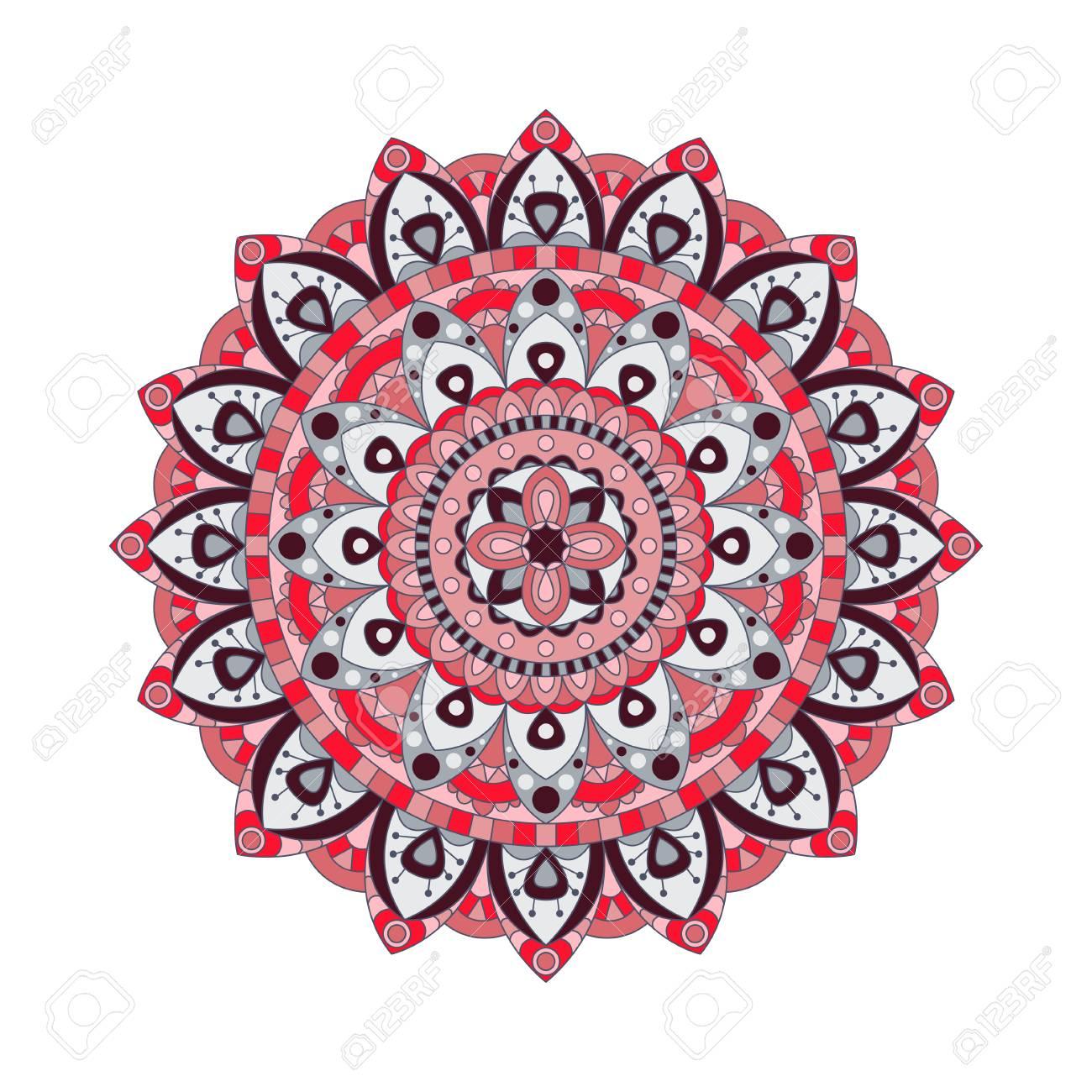 Mandalas Redondas Ornamento No Vetor Elemento Abstrato Do Círculo