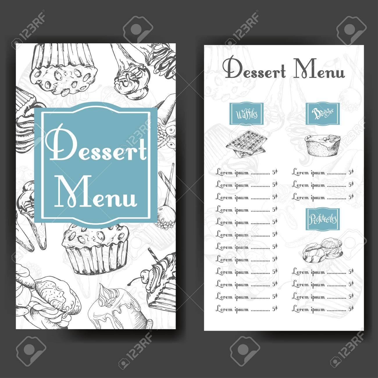 Design Für Süßigkeitenladen. Schablone Mit Verschiedenen Hand ...