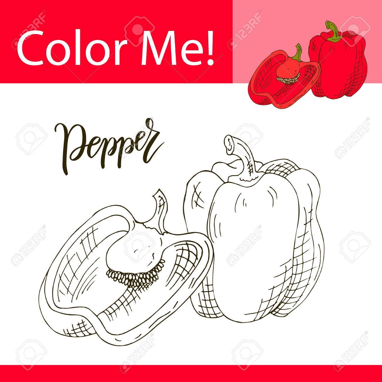 Dorable Colorear Imágenes De Vegetales Motivo - Enmarcado Para ...