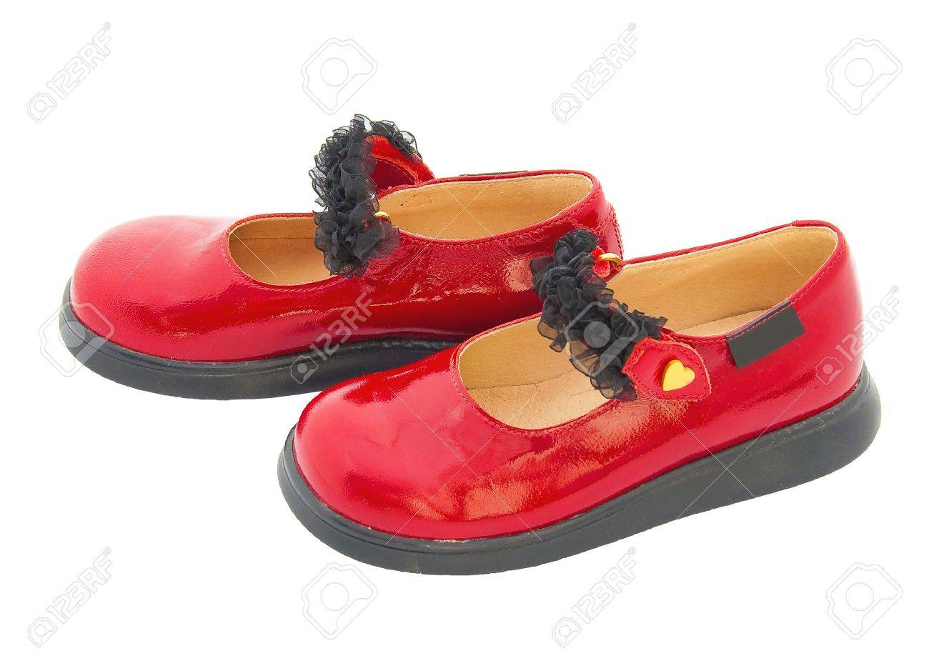 Red Patent Leather Baby Shoes With