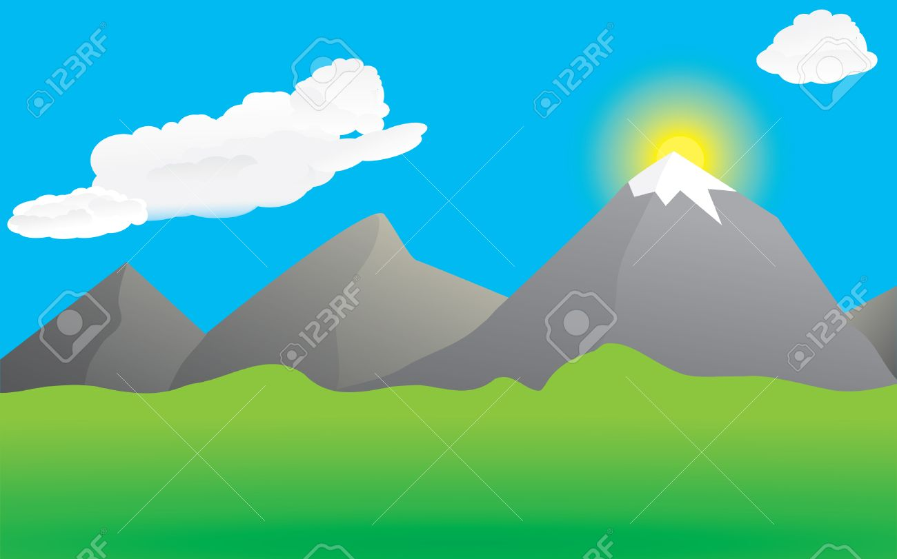 Mountains and valley Stock Vector - 5239710