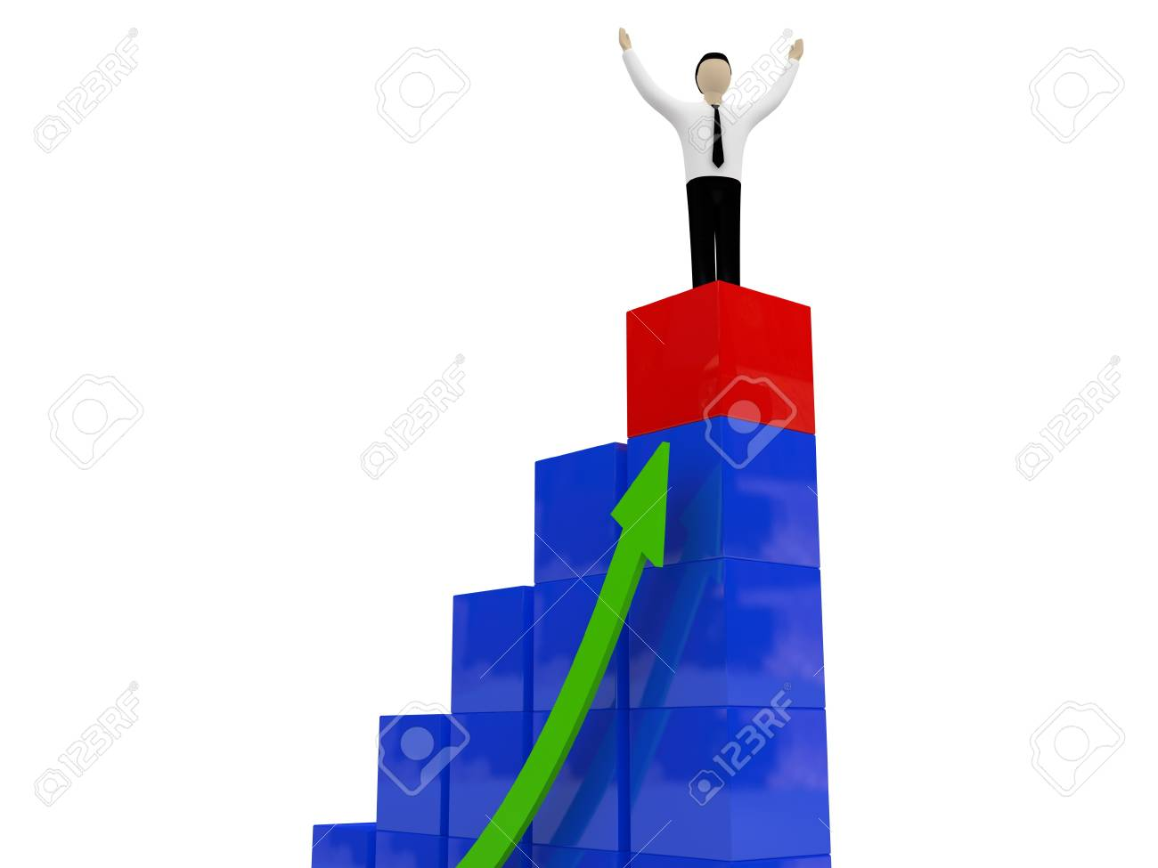 The person at chart top Stock Photo - 11538320