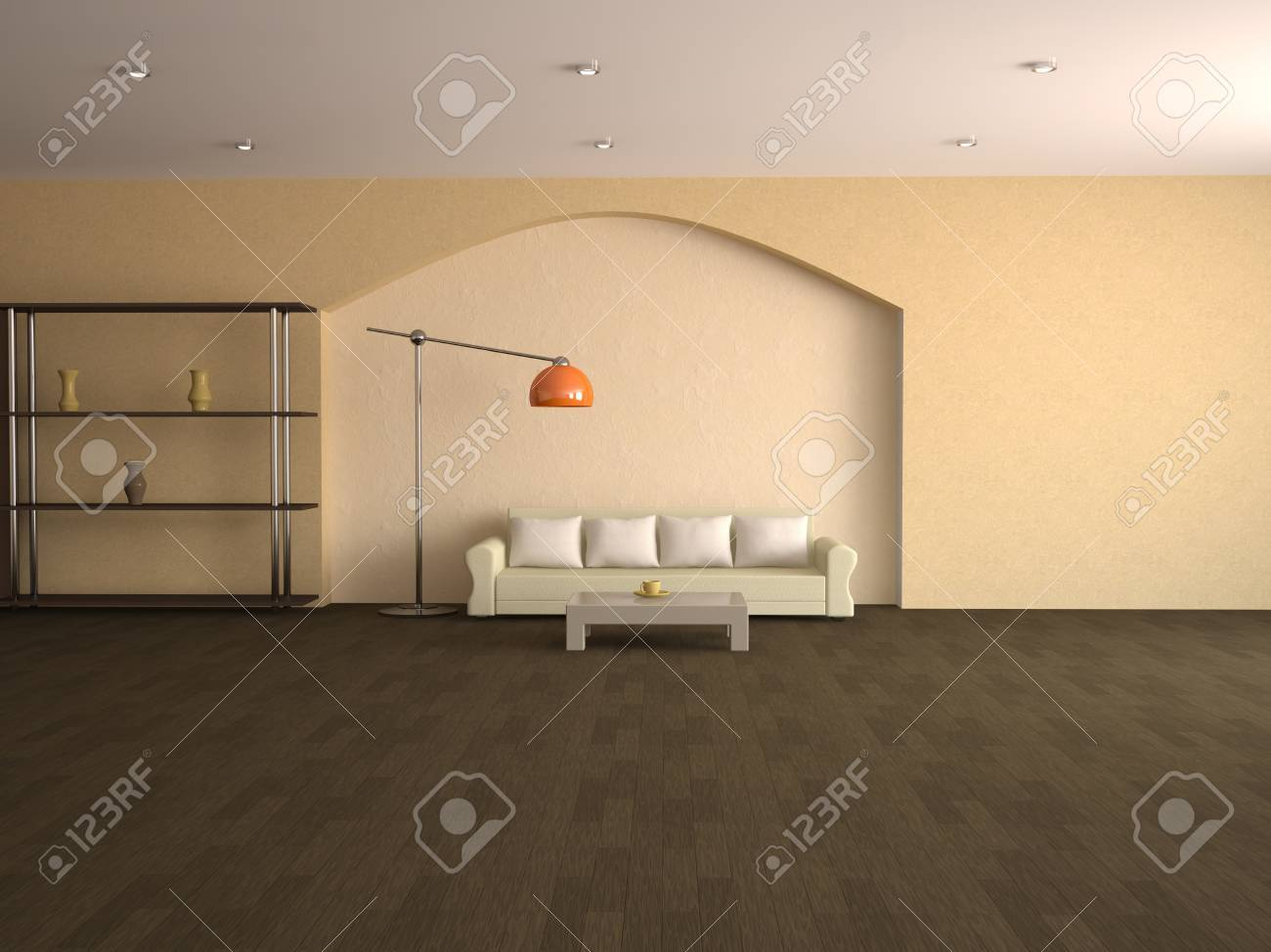 Interior of a room with a sofa and table Stock Photo - 12580224