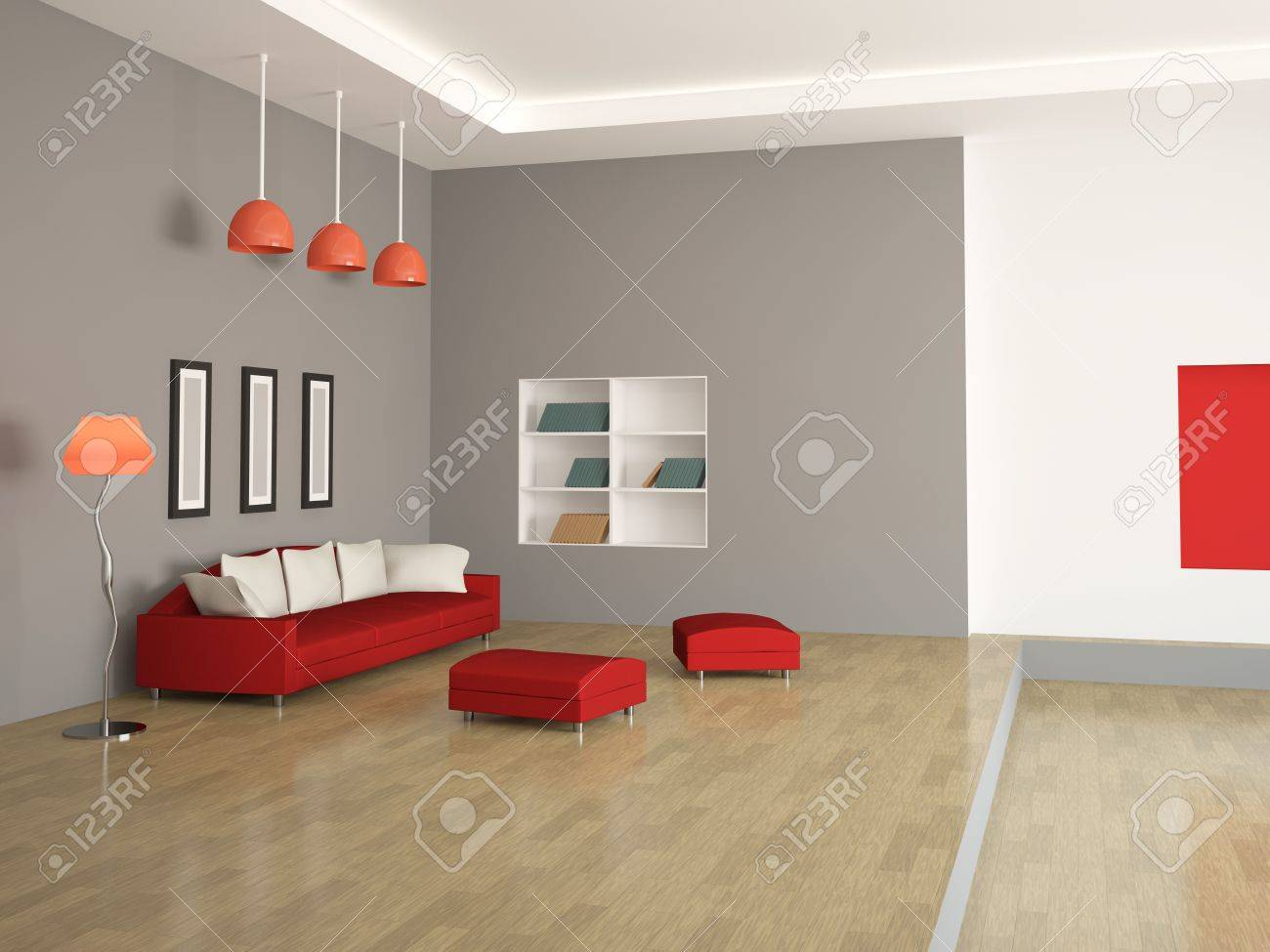 The interior of a large room with furniture Stock Photo - 13148616