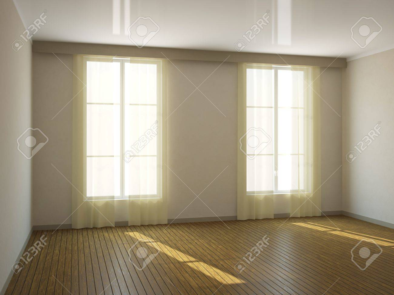 A large empty room with a window Stock Photo - 13729175