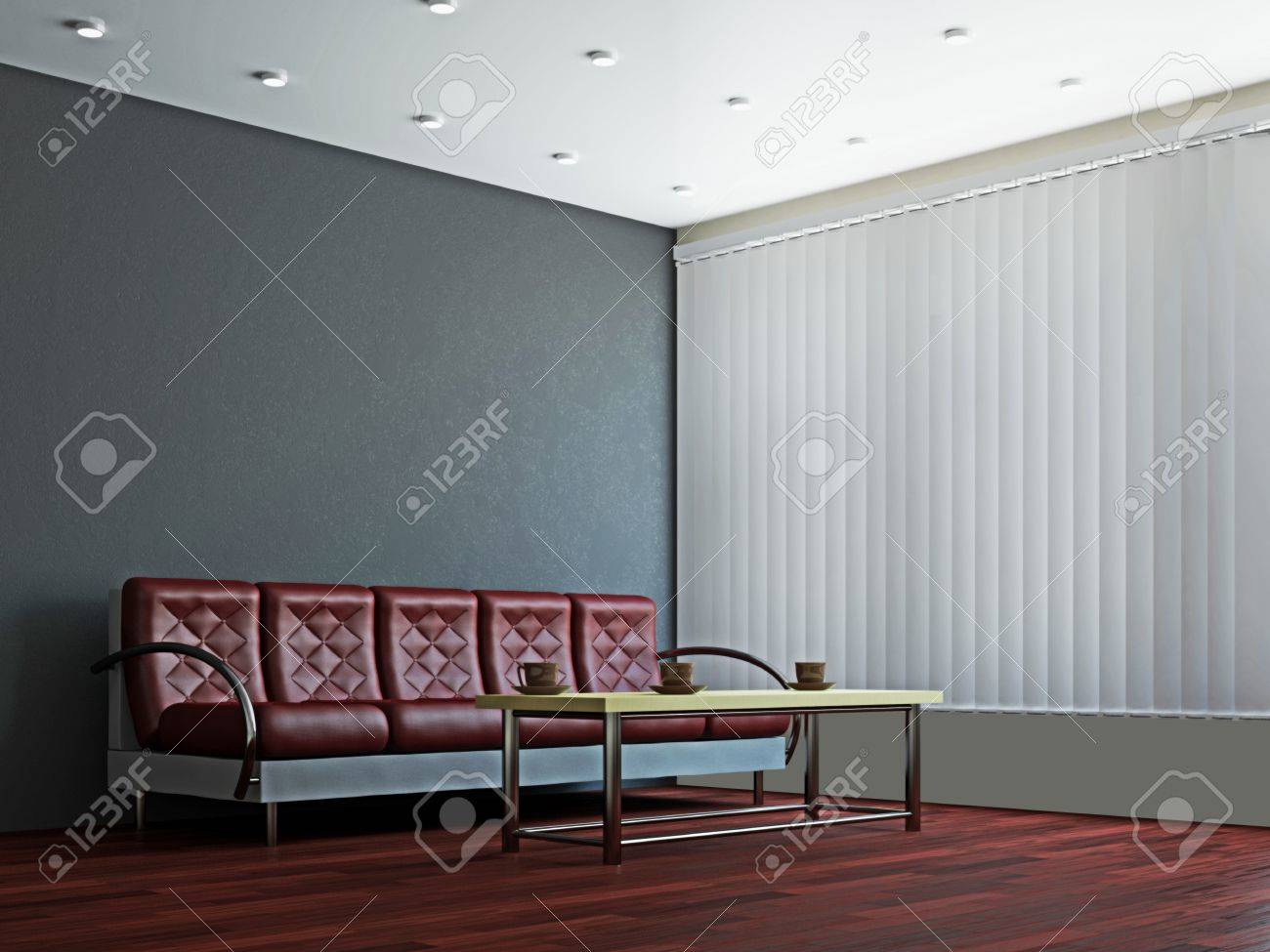A room interior with a sofa and a table Stock Photo - 16249135