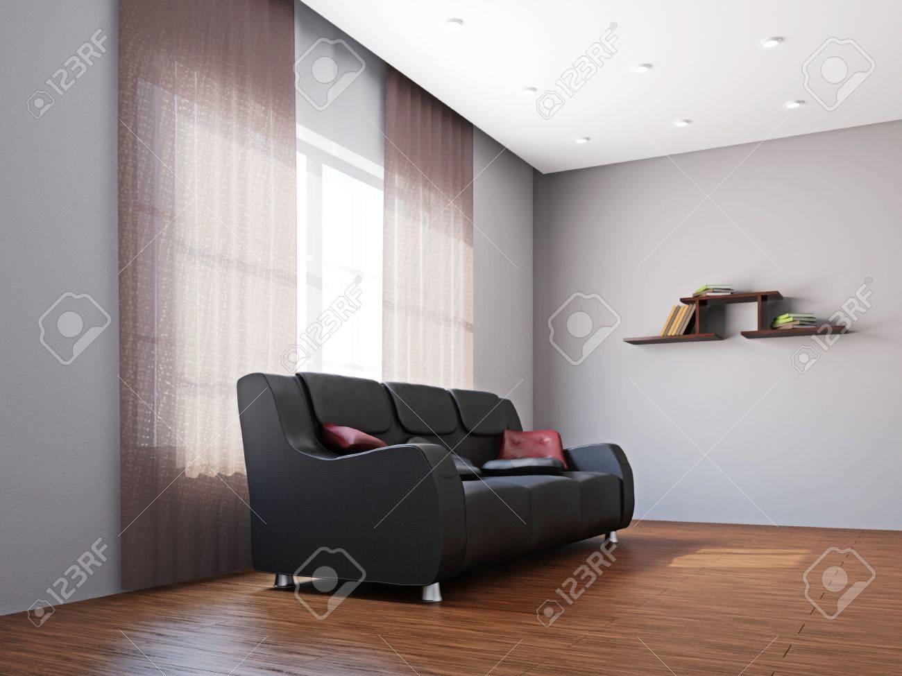 Big sofa in the livingroom near the window Stock Photo - 16659426