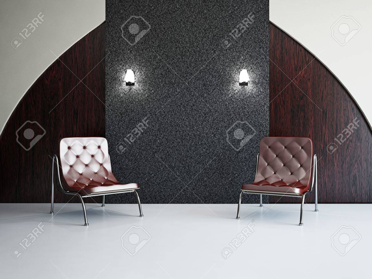 Livingroom with chairs near the wall Stock Photo - 18763131