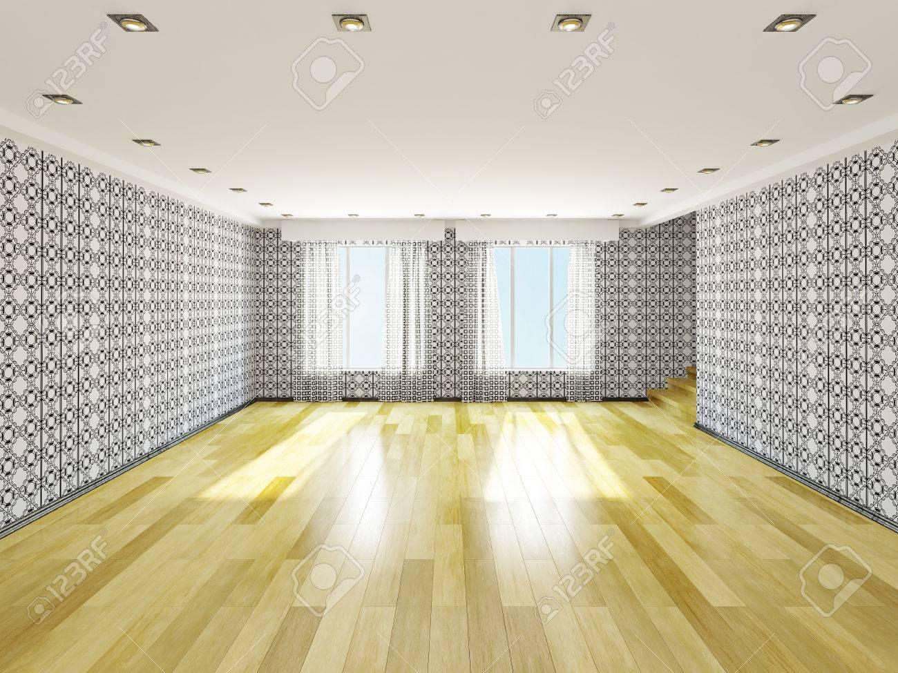 The big empty room with windows Stock Photo - 22989645