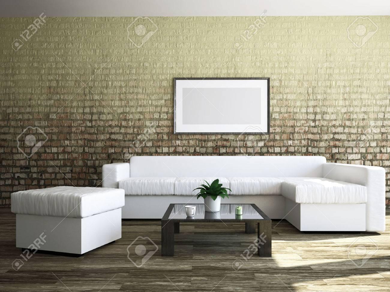 Gemälde Wohnzimmer, wohnzimmer mit möbeln und einem gemälde lizenzfreie fotos, bilder, Design ideen