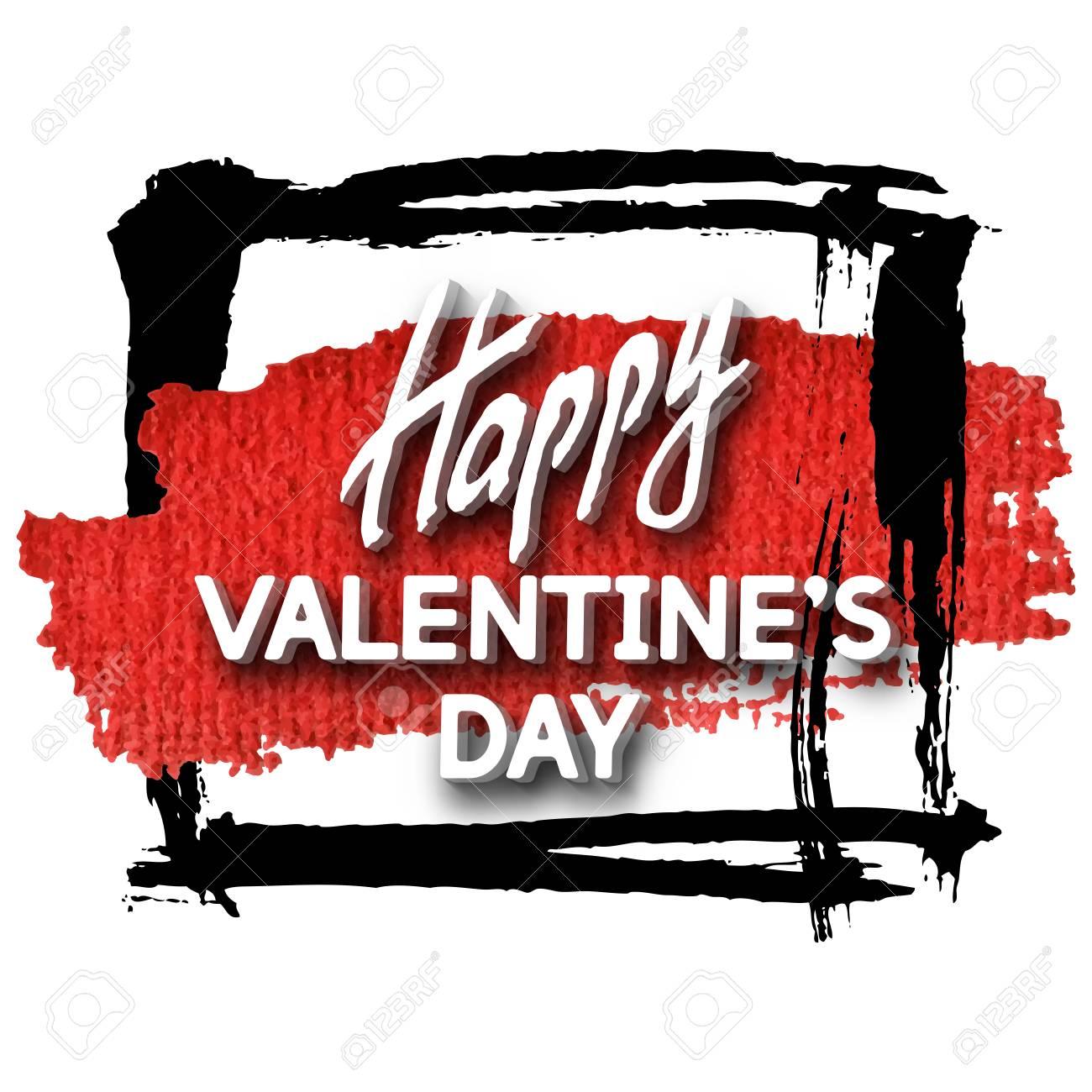 Happy Valentinstag Grußkarte. Bestes Modernes Design ...