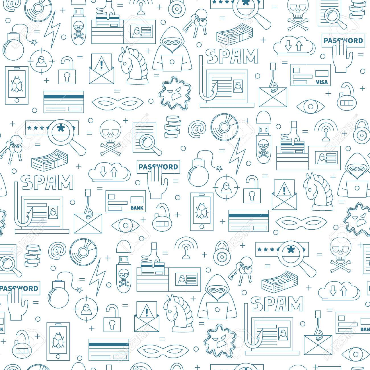 hacking and cyber crime vector seamless pattern with icons of royalty free cliparts vectors and stock illustration image 69587151 hacking and cyber crime vector seamless pattern with icons of