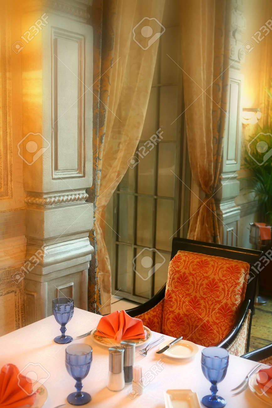 Interior of the Dining Room in  Style Stock Photo - 2669102