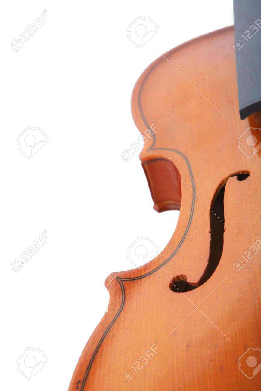 Fragment of Old Violin, Music Instrument, Graceful Lines