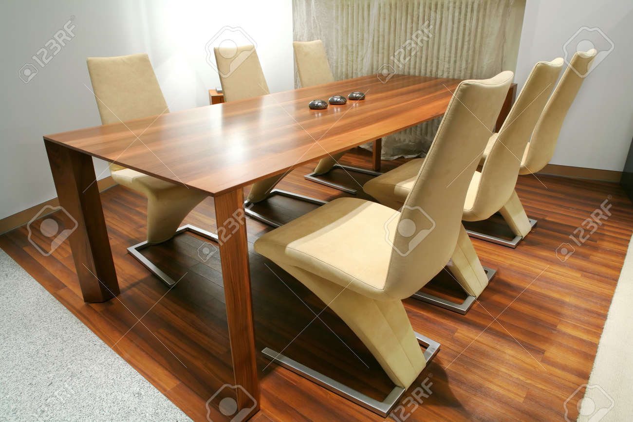 trendys dining room with unusual chairs Stock Photo - 4726906