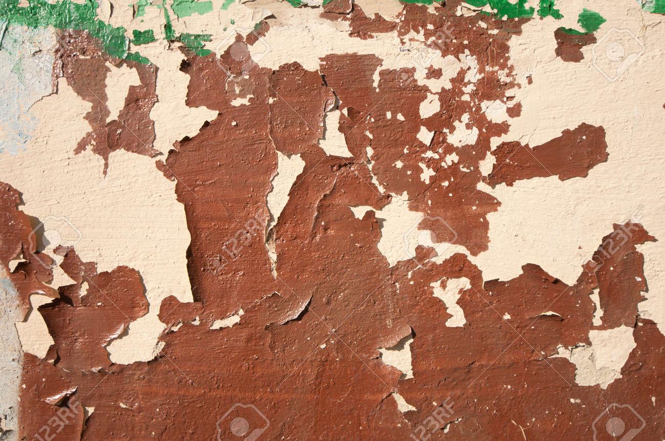 Vieux Mur Avec Couche De Peinture à L Huile