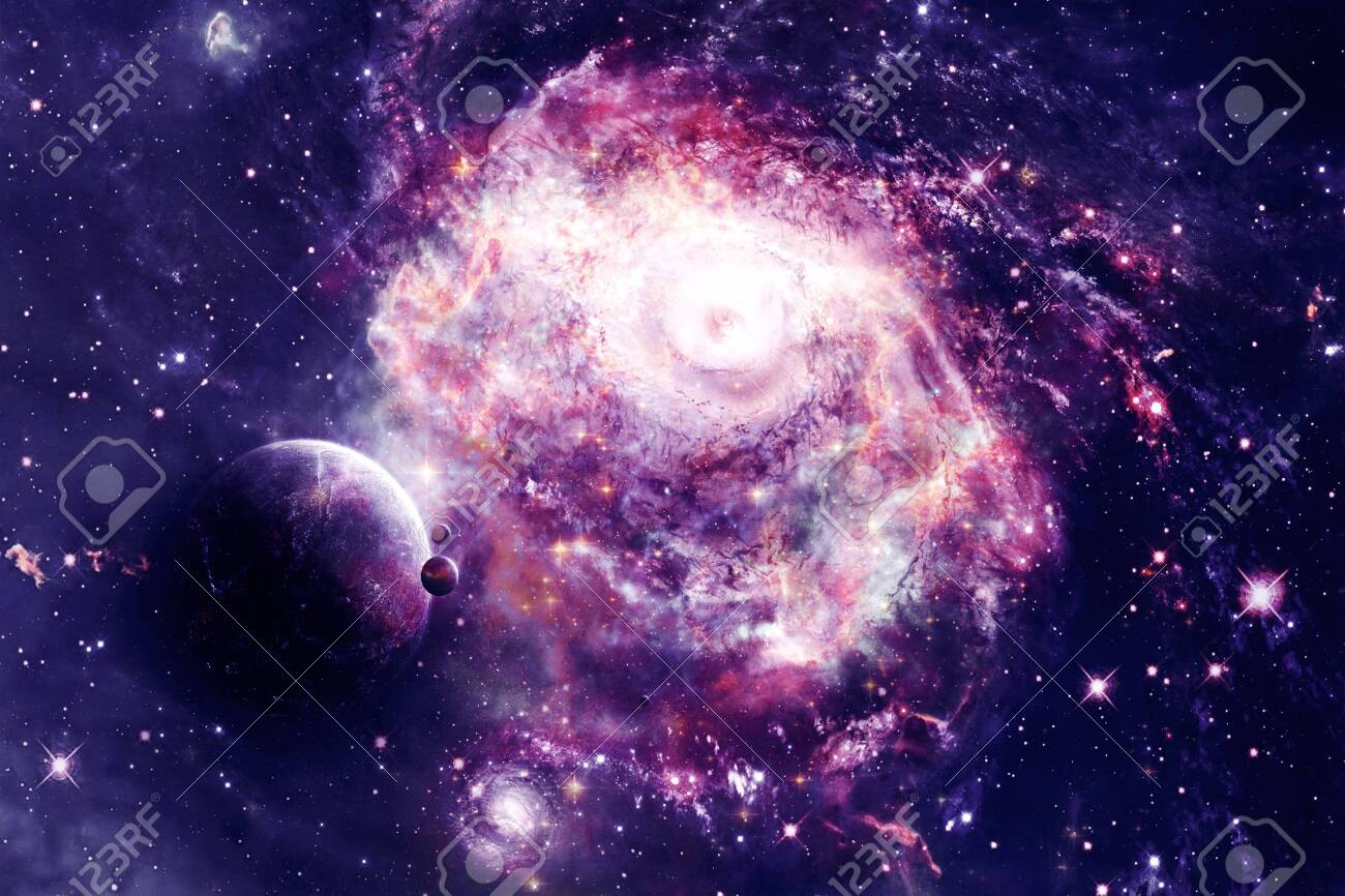 Abstract Beautiful Colorful Galaxy In A Space With A Planet On Stock Photo Picture And Royalty Free Image Image 121375935
