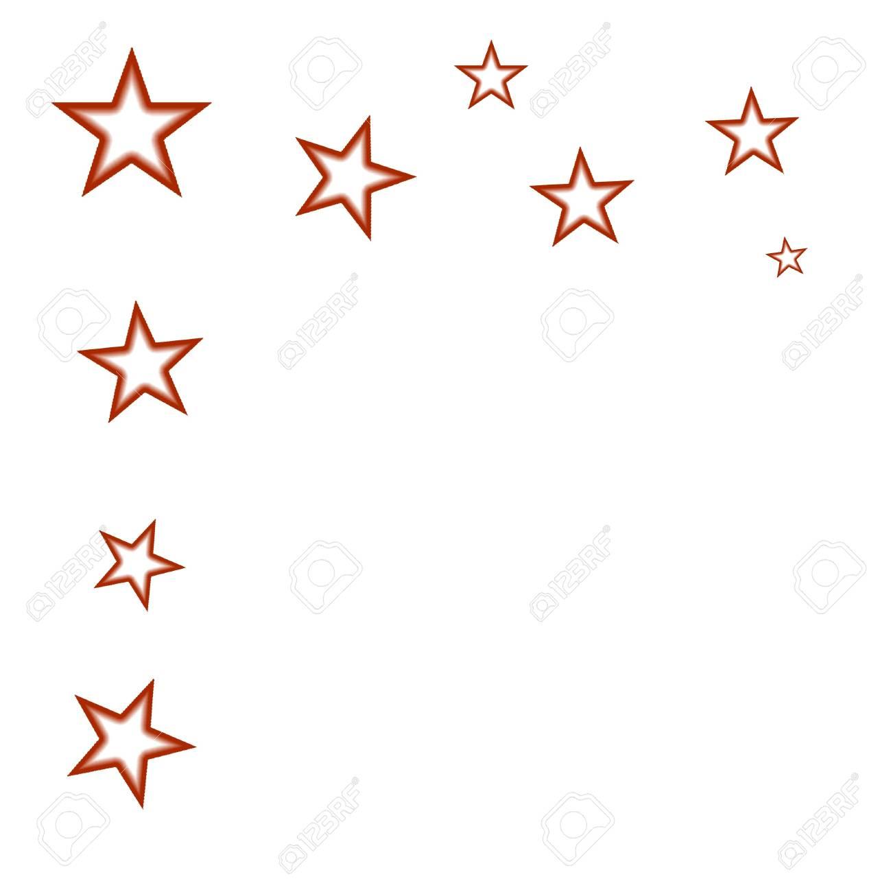 Immagini Stock Motivo Decorativo Con Stelle Su Sfondo Bianco Image