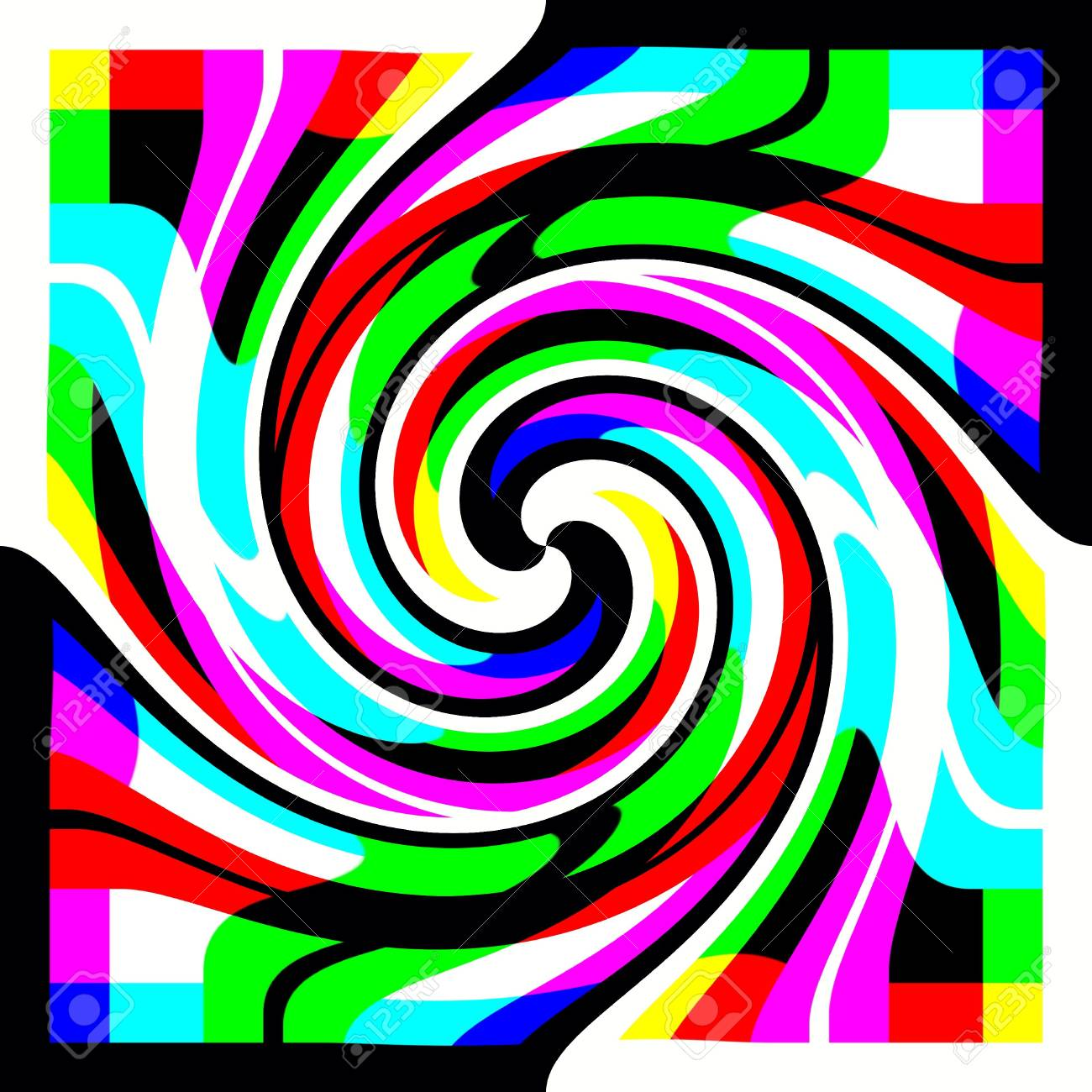 7dcc3ae36a Multicolor Spiral For Design Stock Photo, Picture And Royalty Free ...