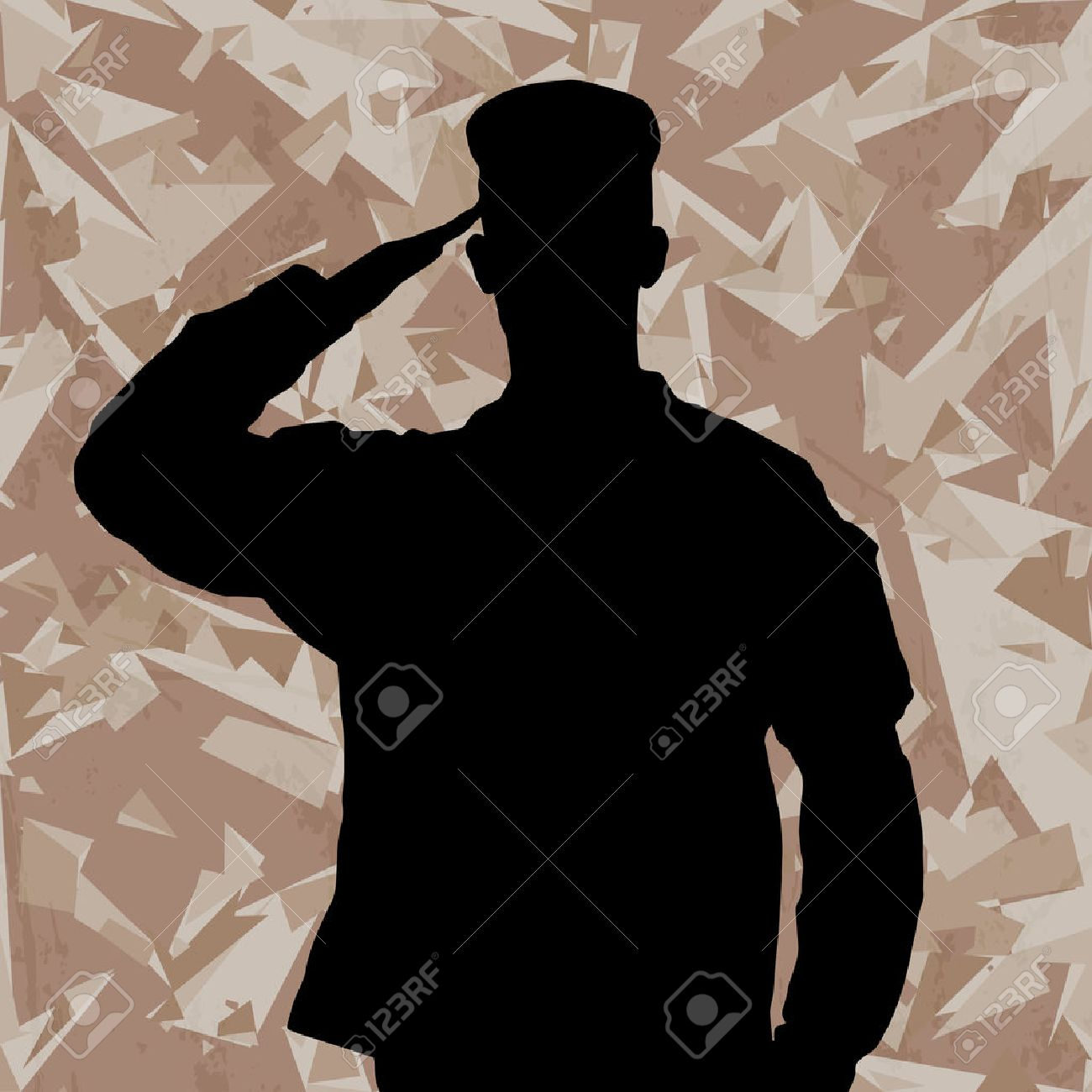 Army Background Vector Army Background Saluting