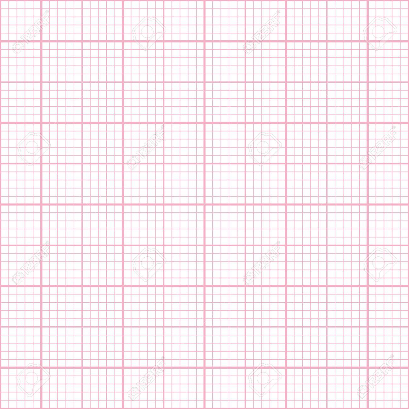 Motif De Papier Millimétré Rose Seamless