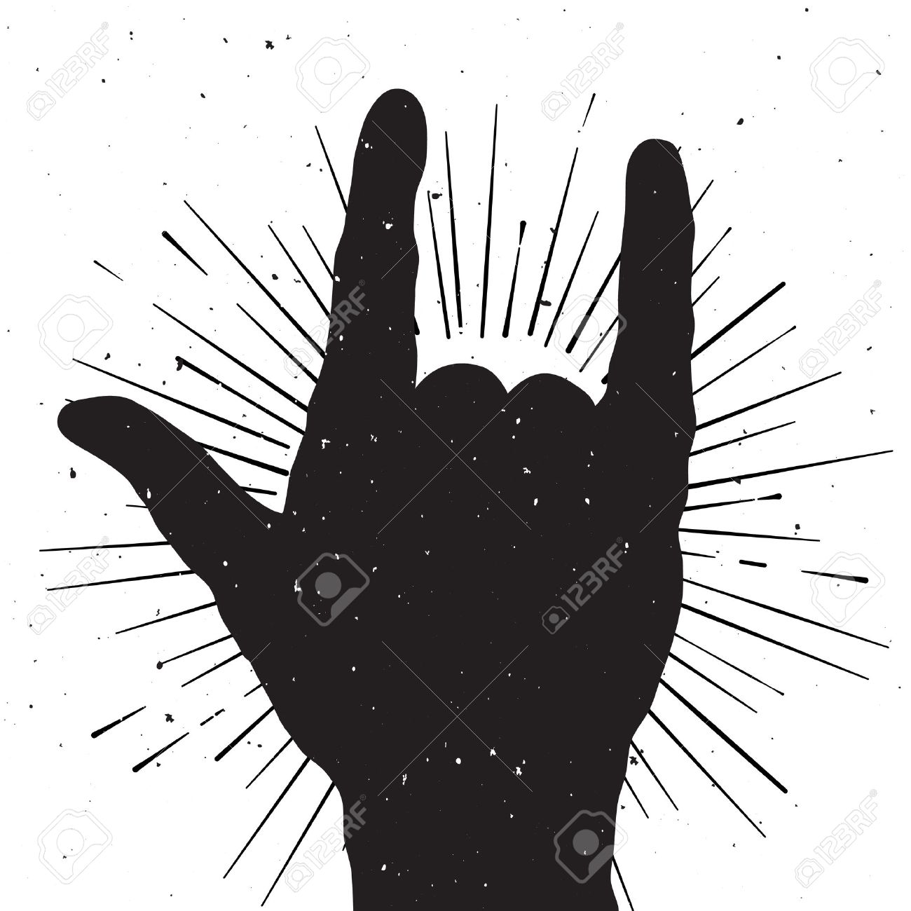 1,893 Rock And Roll Hand Sign Stock Vector Illustration And ...