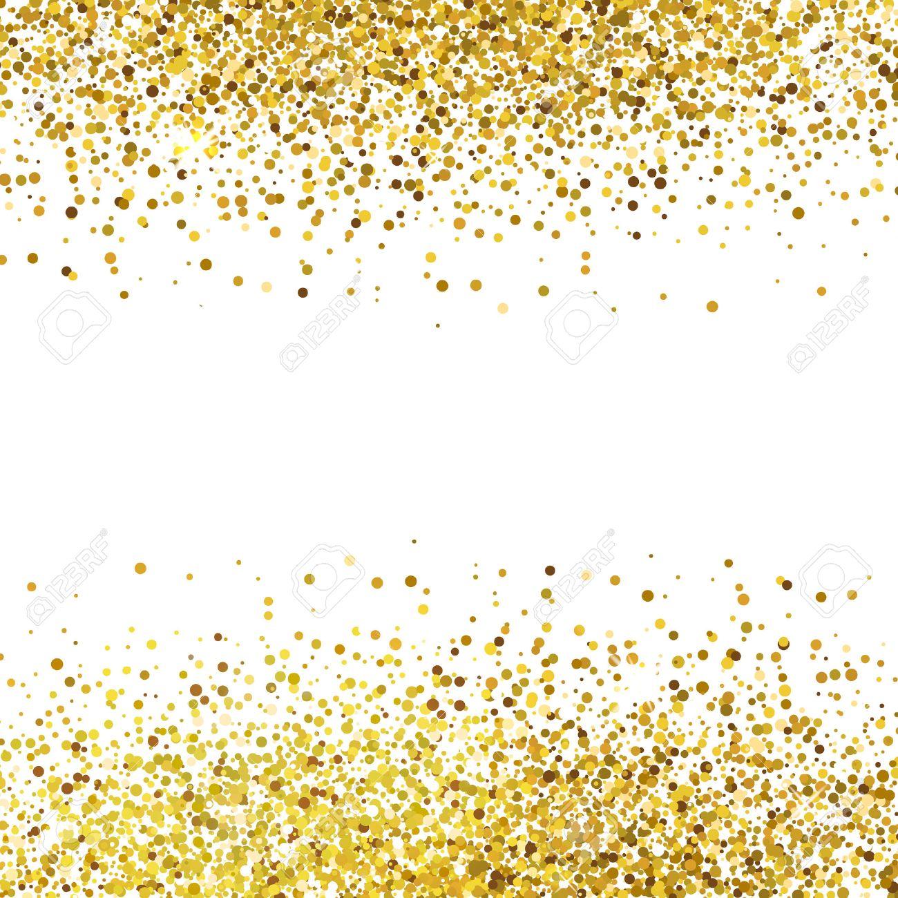 Shiny golden glitter on white background - 50743682