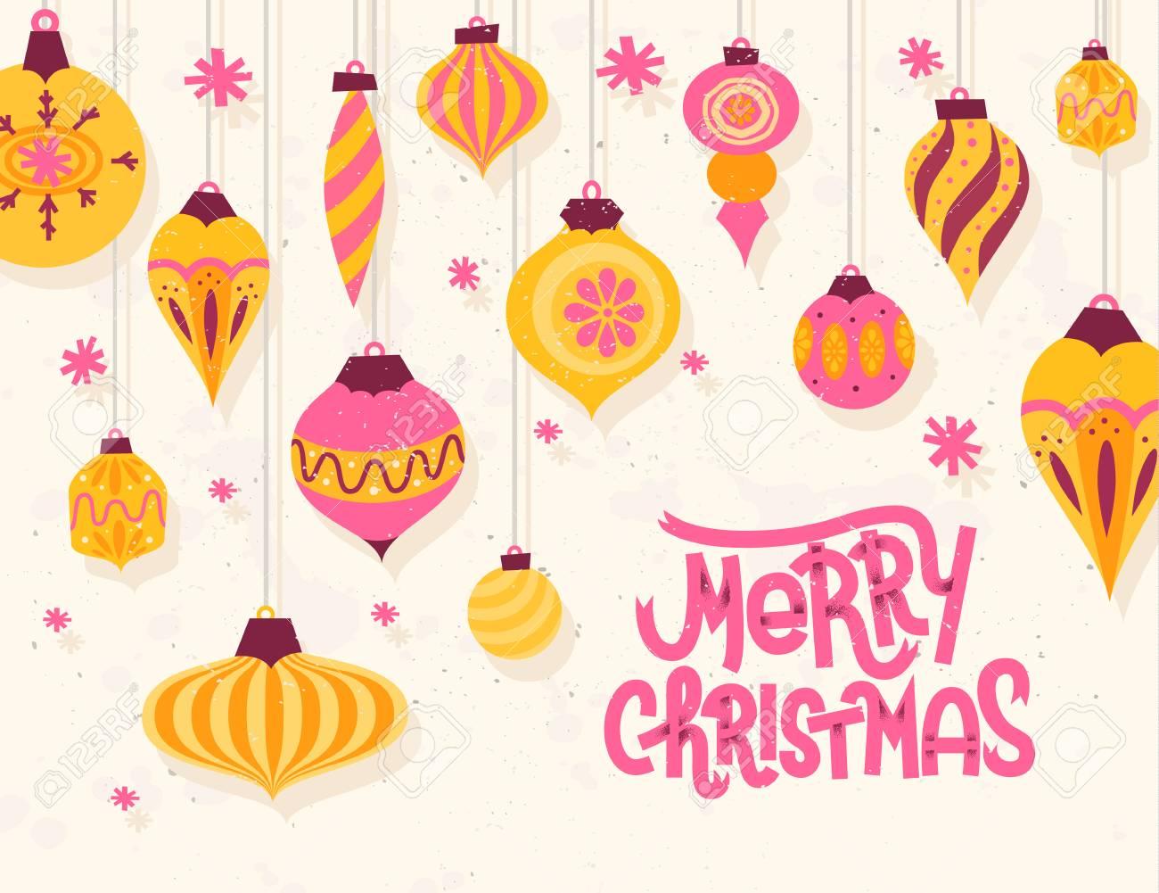Auguri Di Natale Anni 50.Festive Auguri Di Natale Con Stile Retro Anni 50 Ornamenti Di Natale