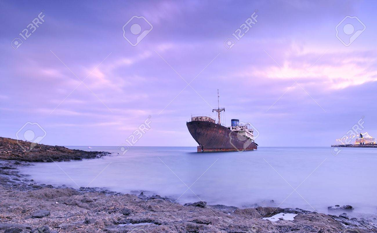 Ship for scrap. Stock Photo - 10470454