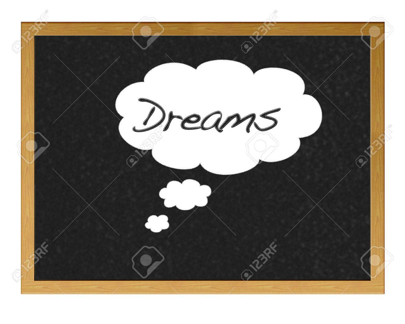 Blackboard with the word written dreams. Stock Photo - 12214820