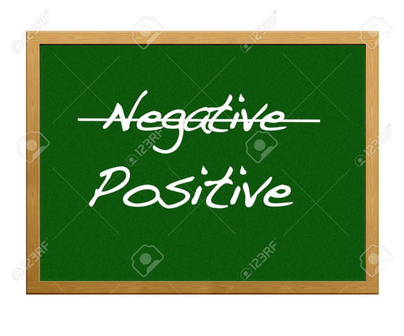 Be positive, not negative. Stock Photo - 12214881