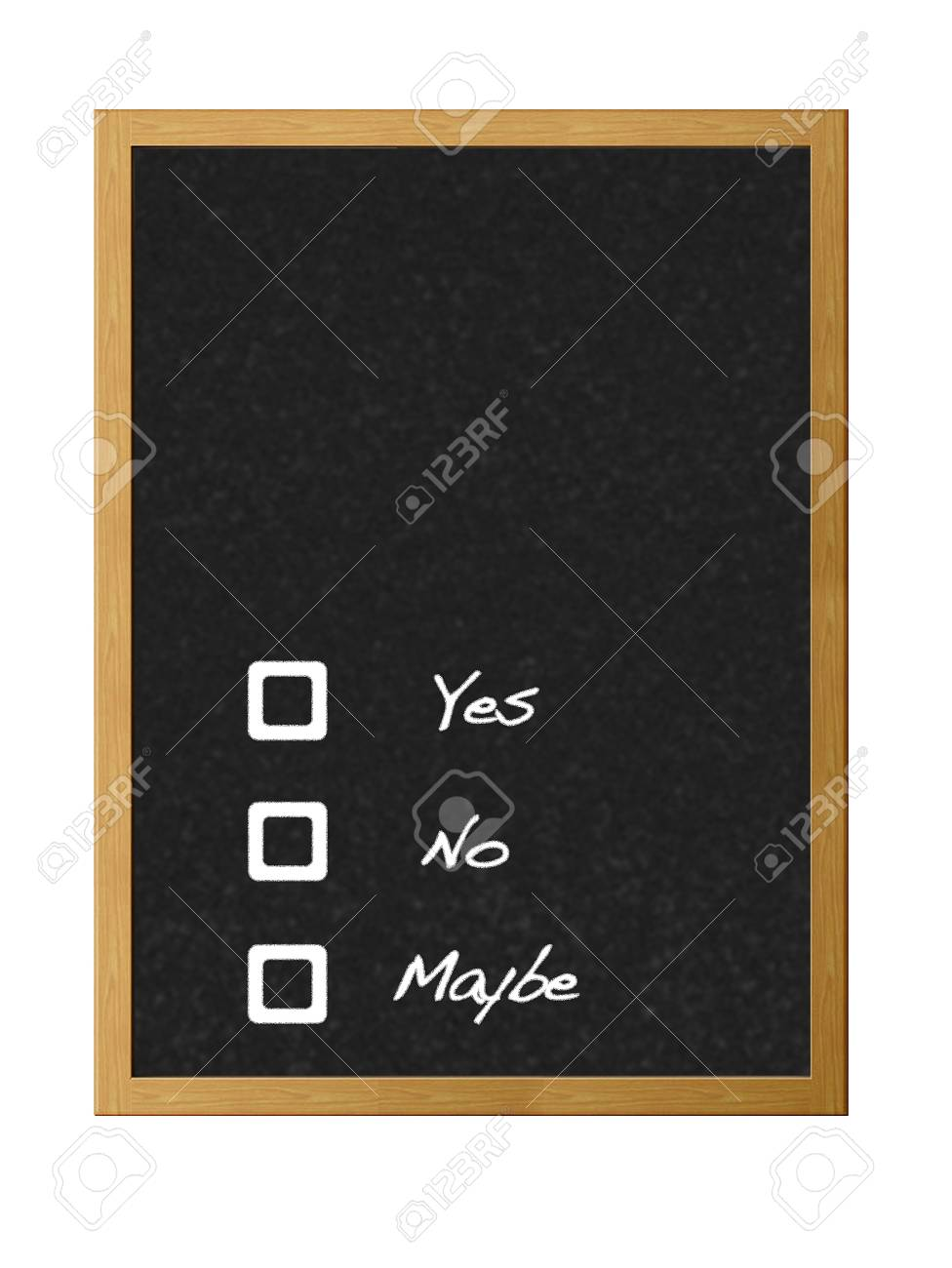 Yes,no,maybe. Stock Photo - 12214869