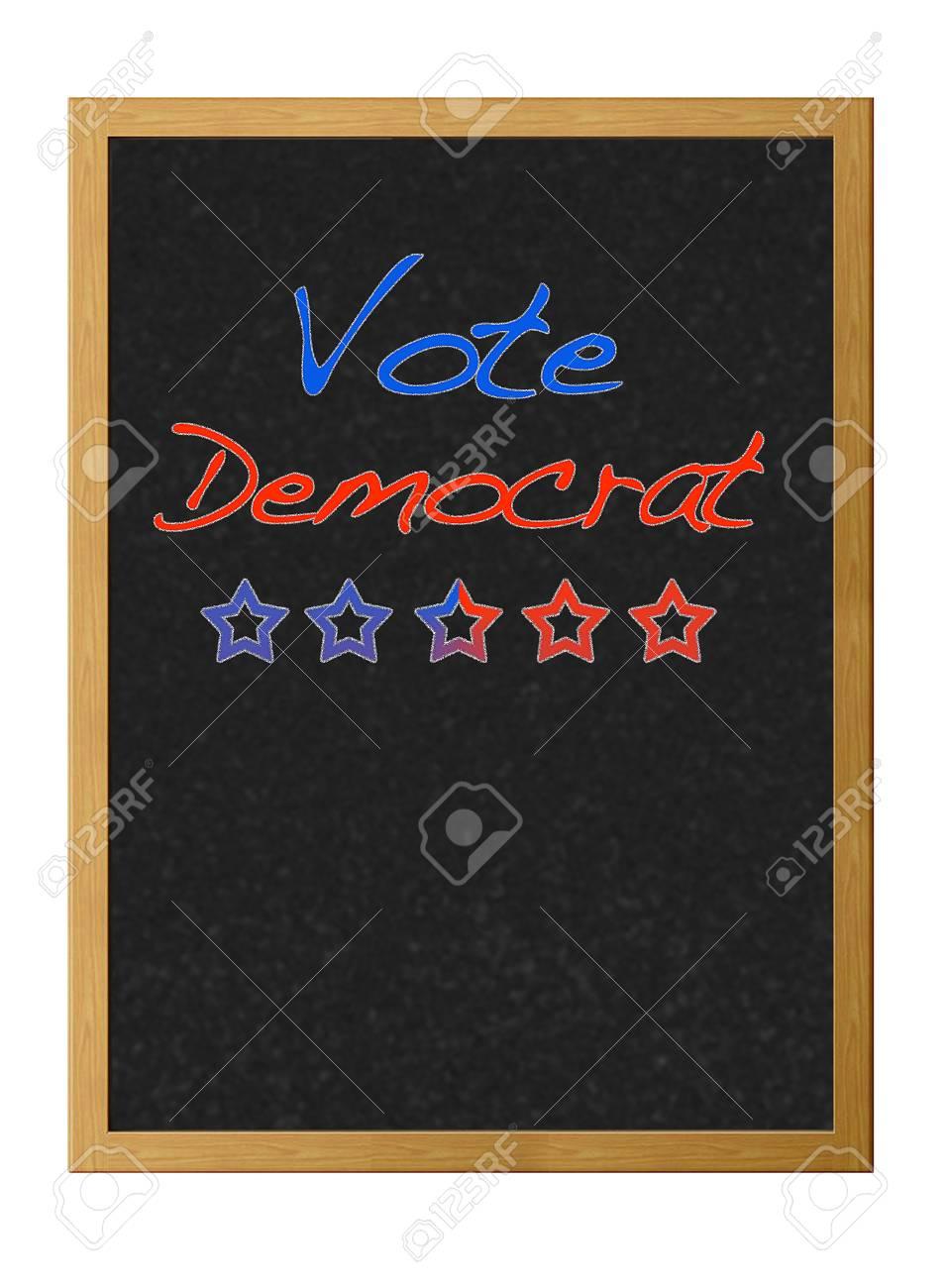Vote democrat. Stock Photo - 12214873