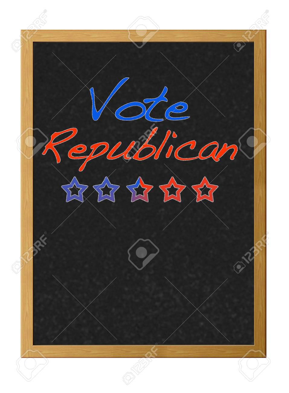 Vote republican. Stock Photo - 12214874