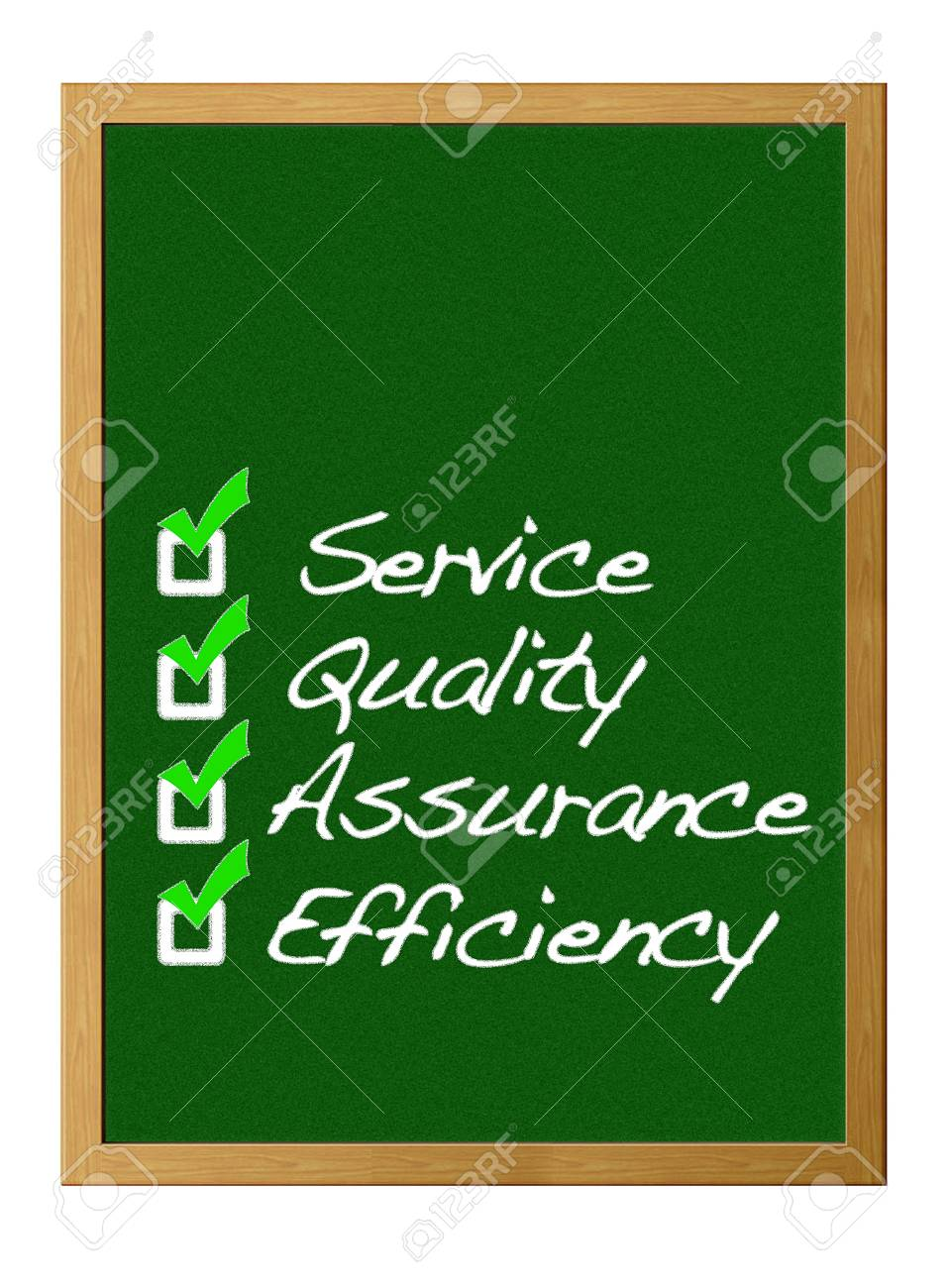 Service, Quality, assurance, Efficiency. Stock Photo - 12215032