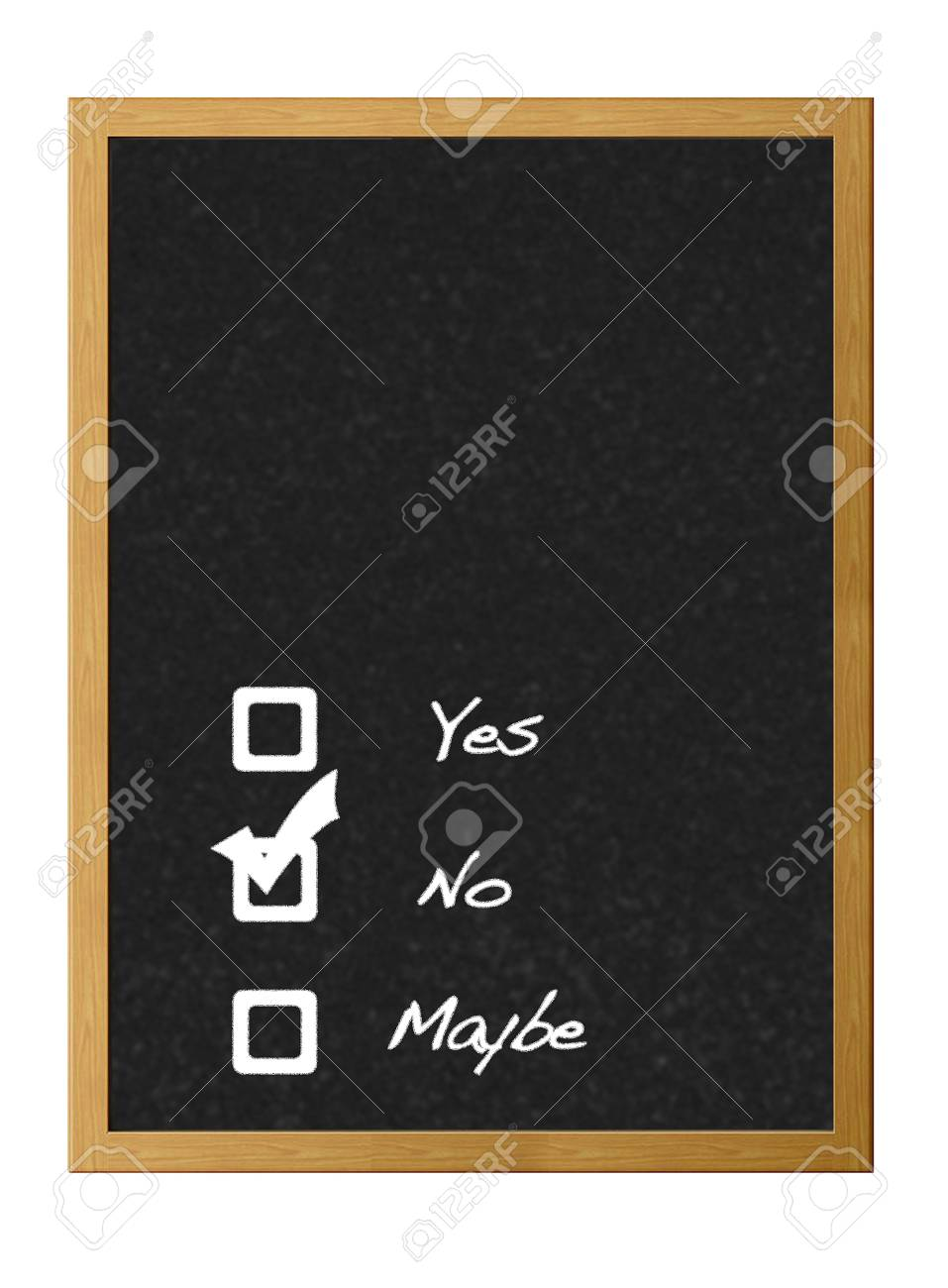 Yes,no,maybe. Stock Photo - 12215164