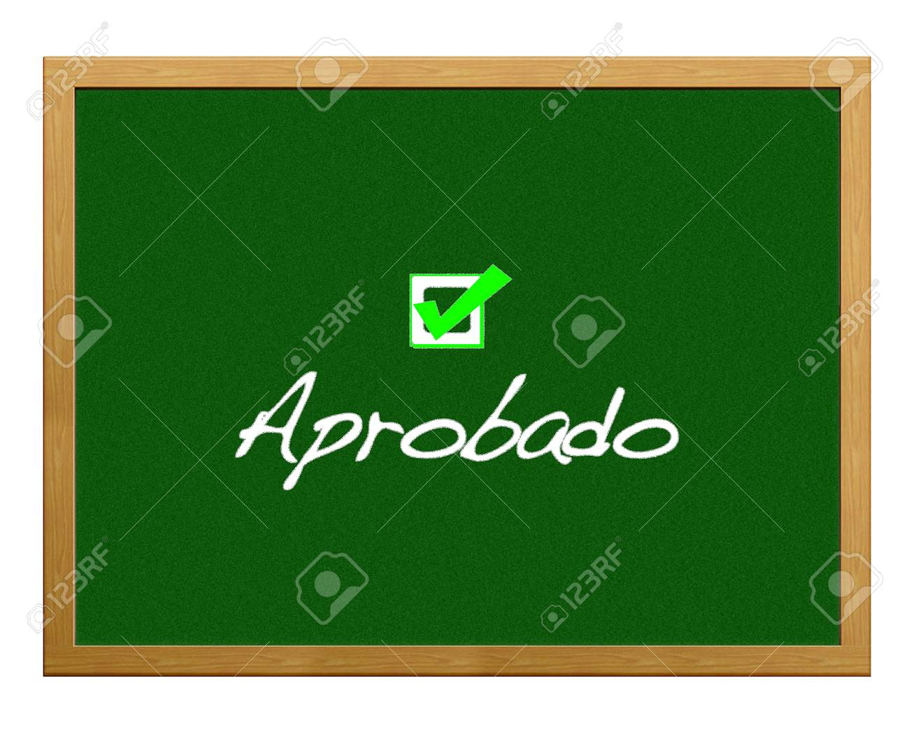 Greenboard with Approved. Stock Photo - 12554892