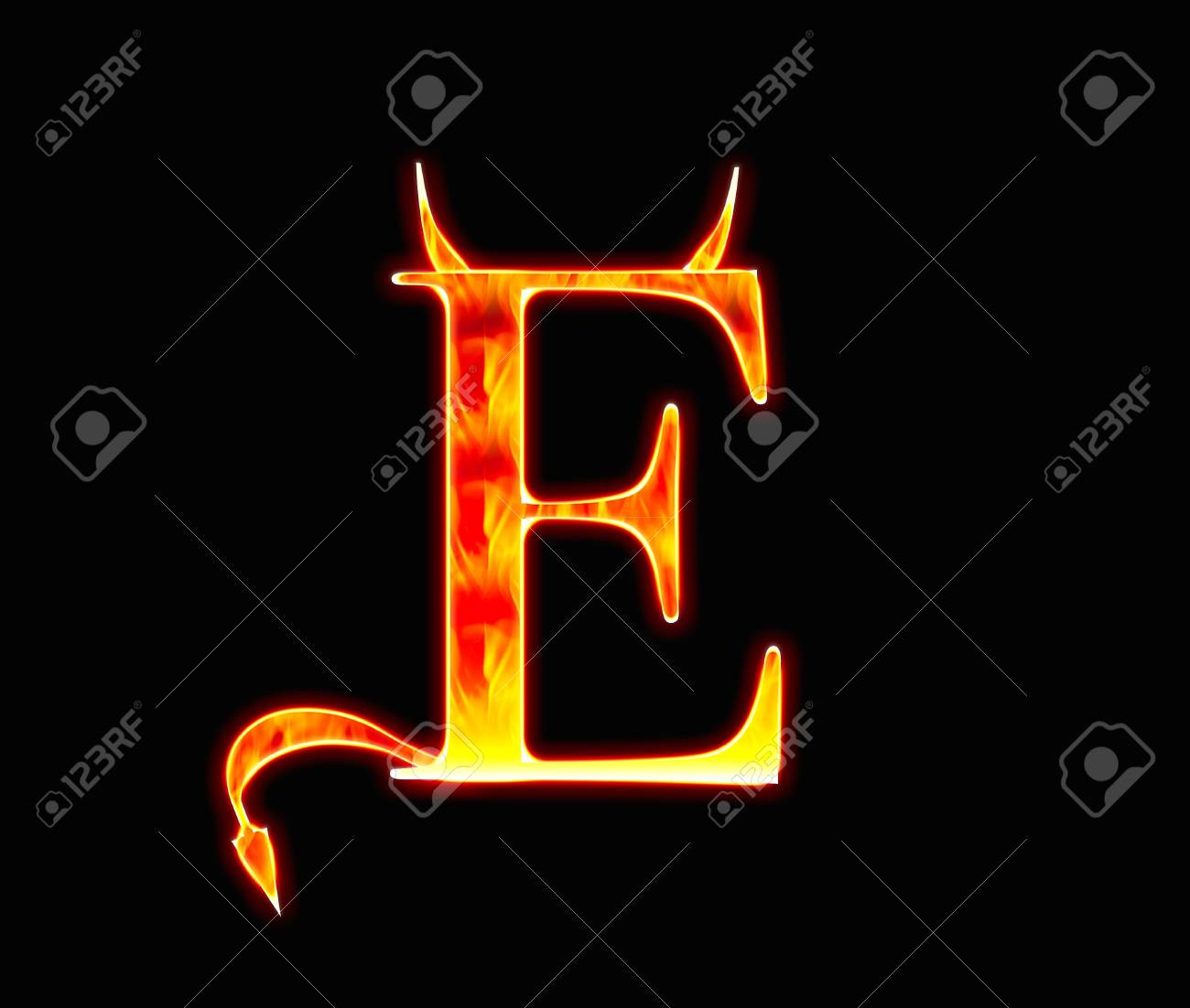 Demon ABC Stock Photo - 12554938