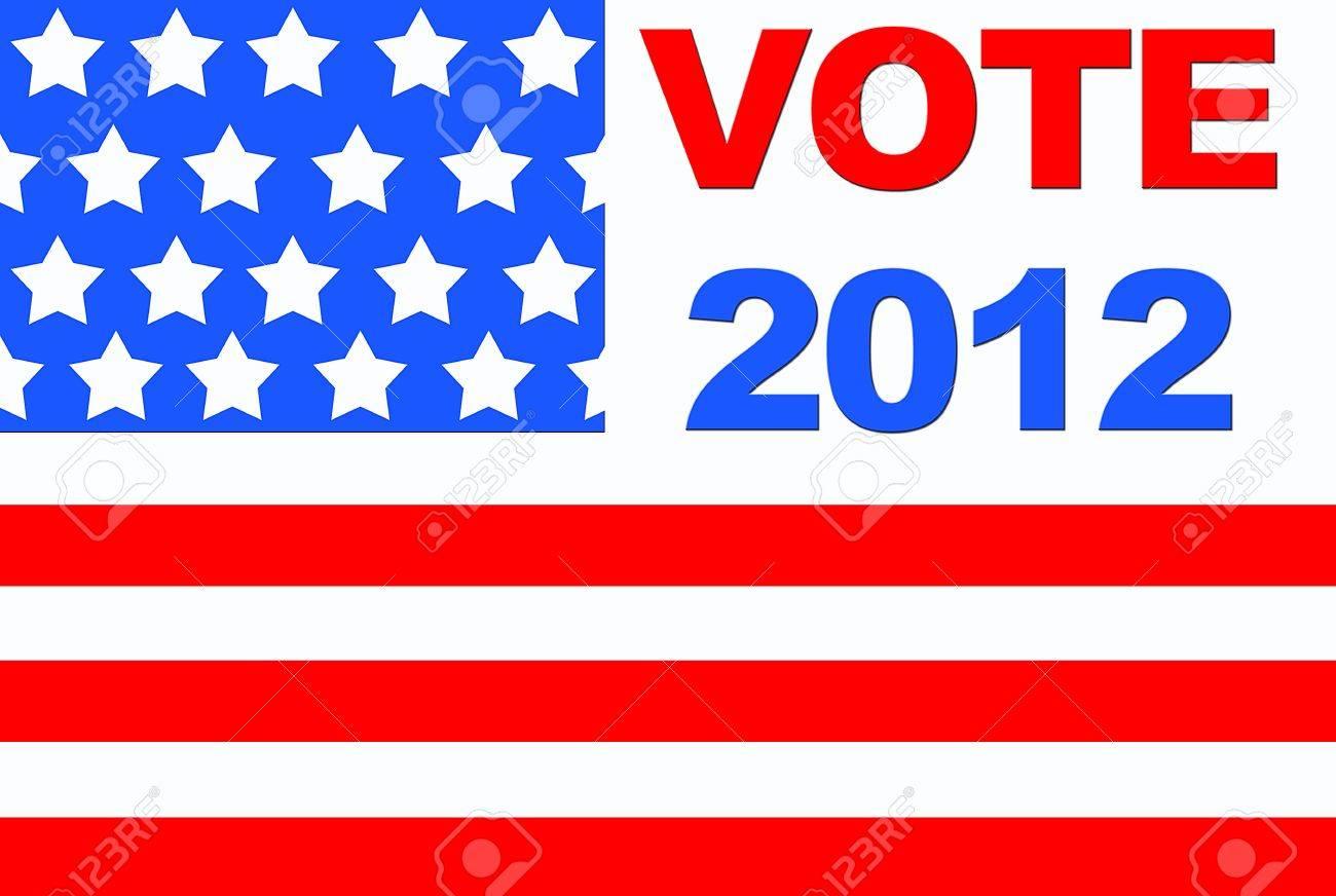 Vote USA 2012. Stock Photo - 12554976