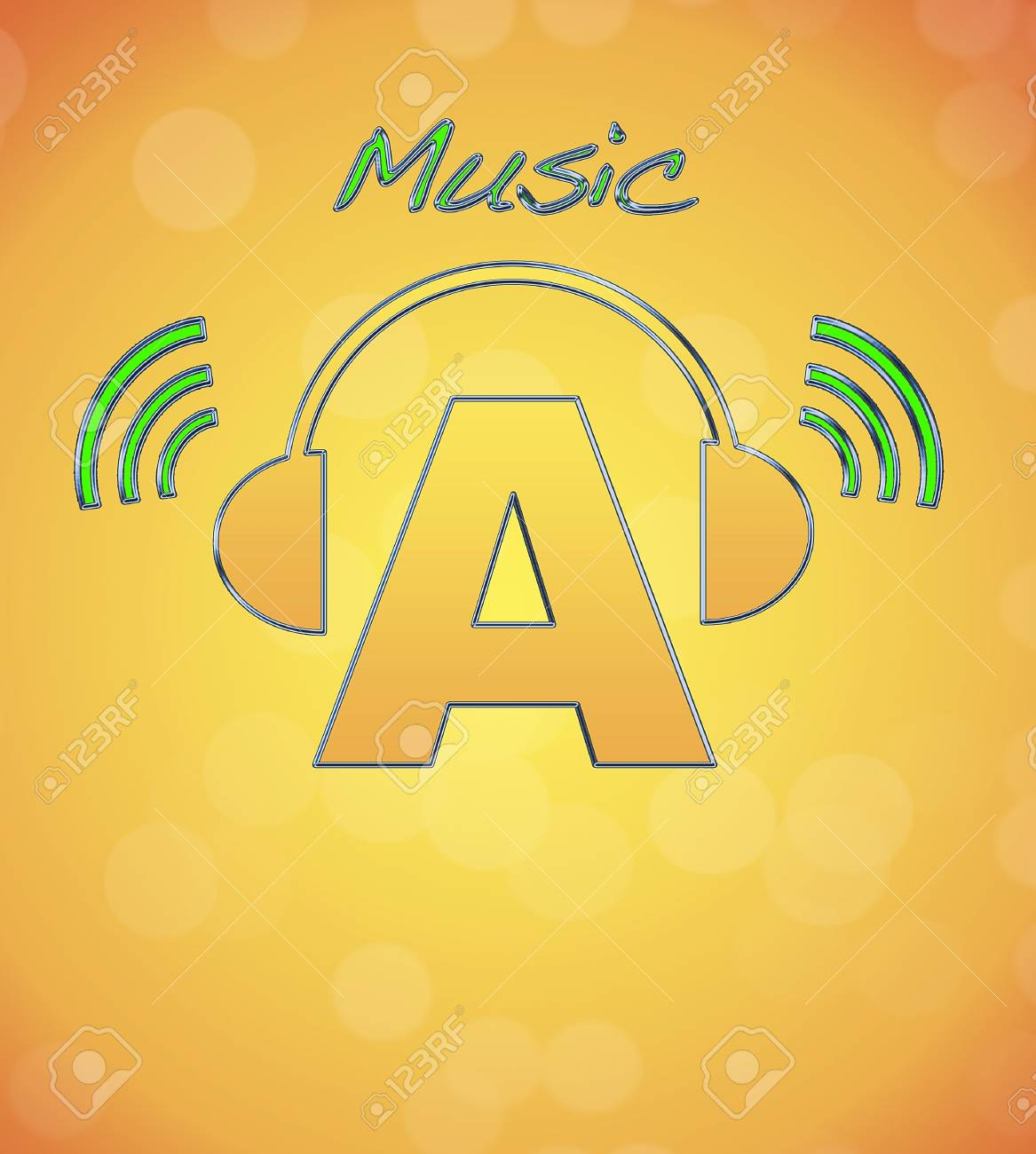 A, music logo Stock Photo - 13194831
