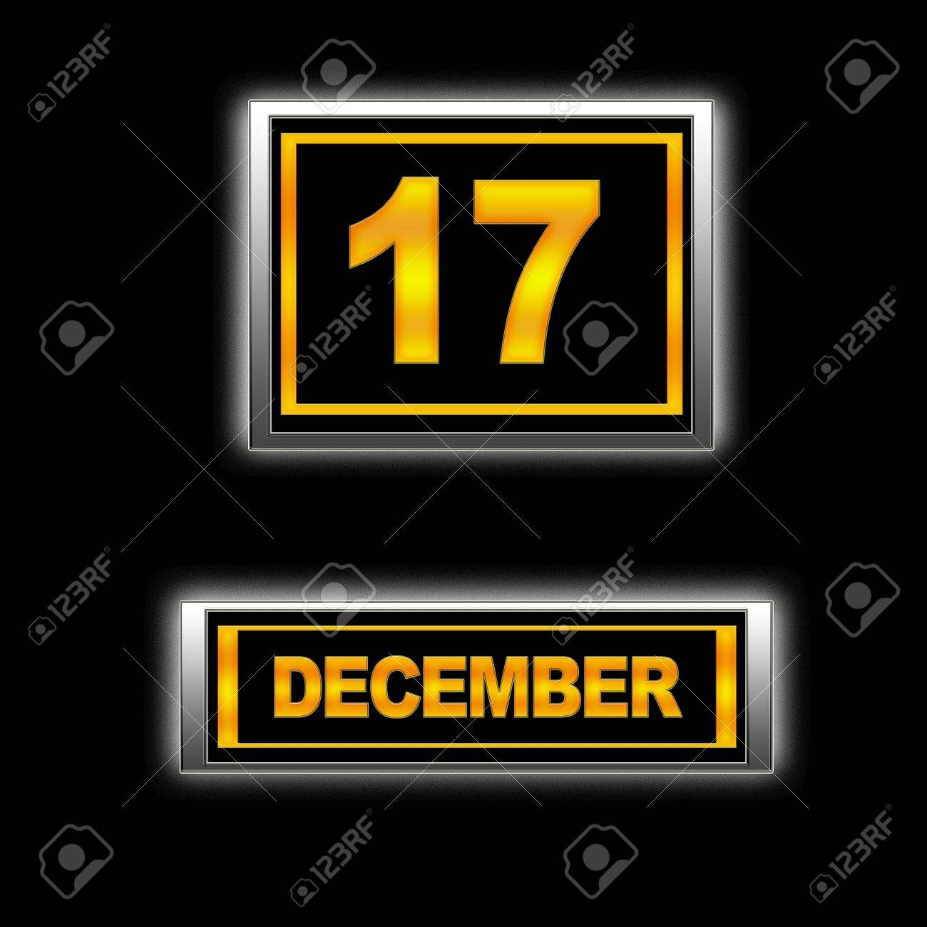 Illustration with Calendar, December 17. Stock Photo - 13268206