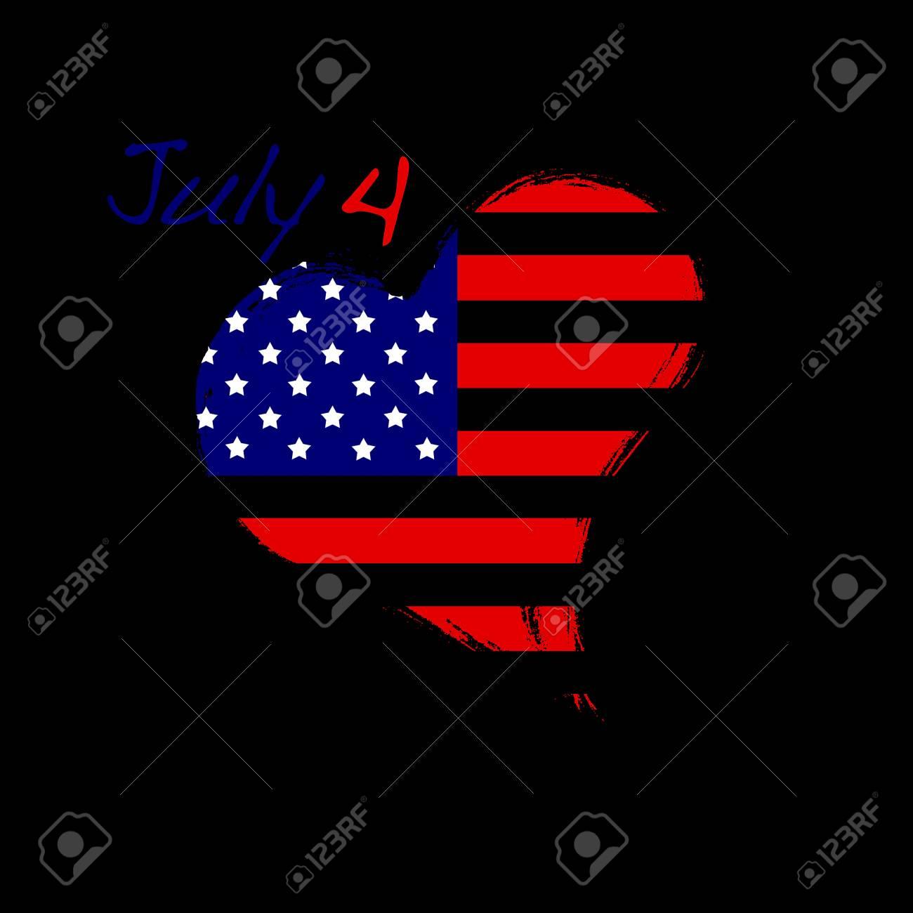 USA heart. Stock Photo - 13318853