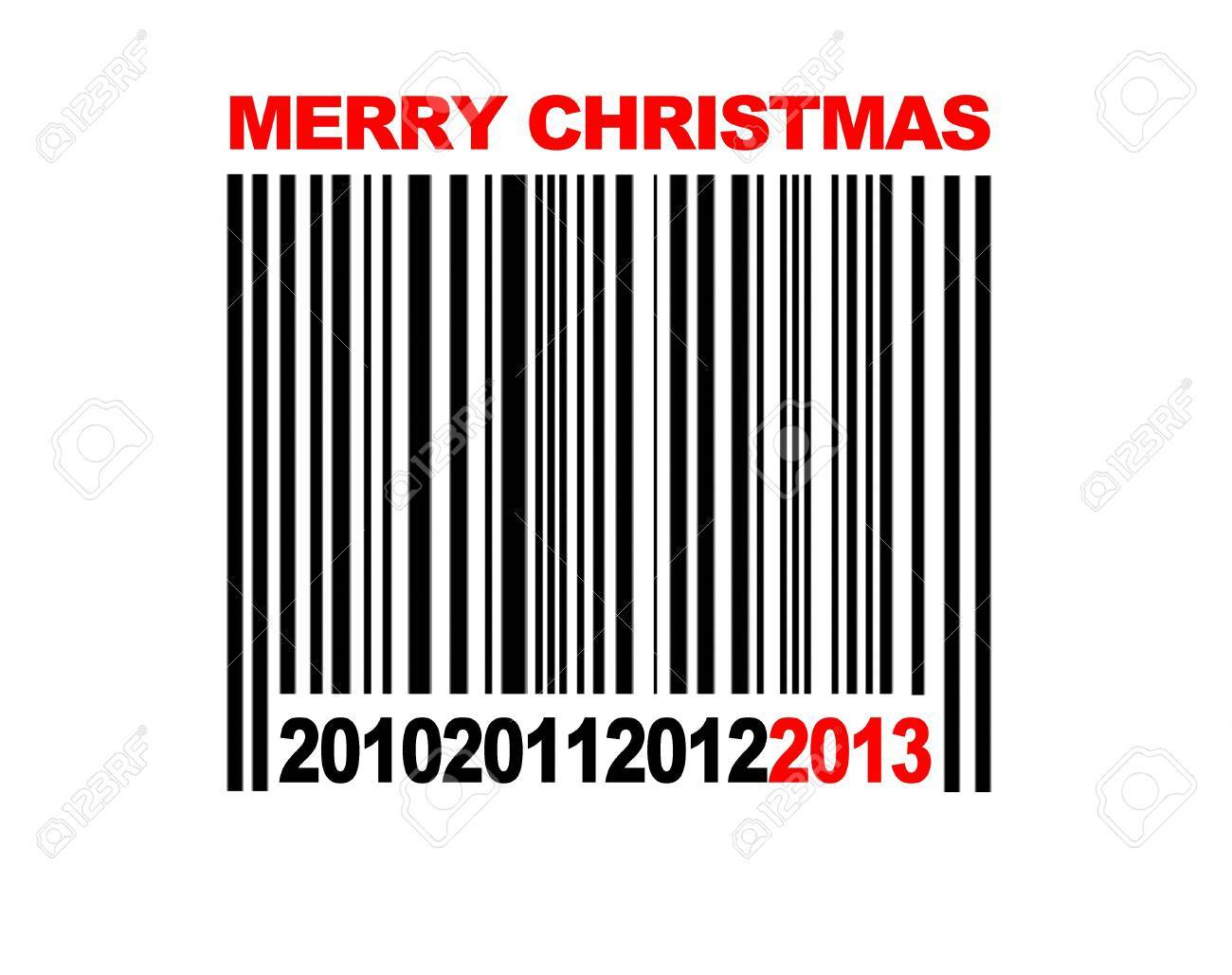 Barcode Merry Christmas 2013. Stock Photo - 13329178